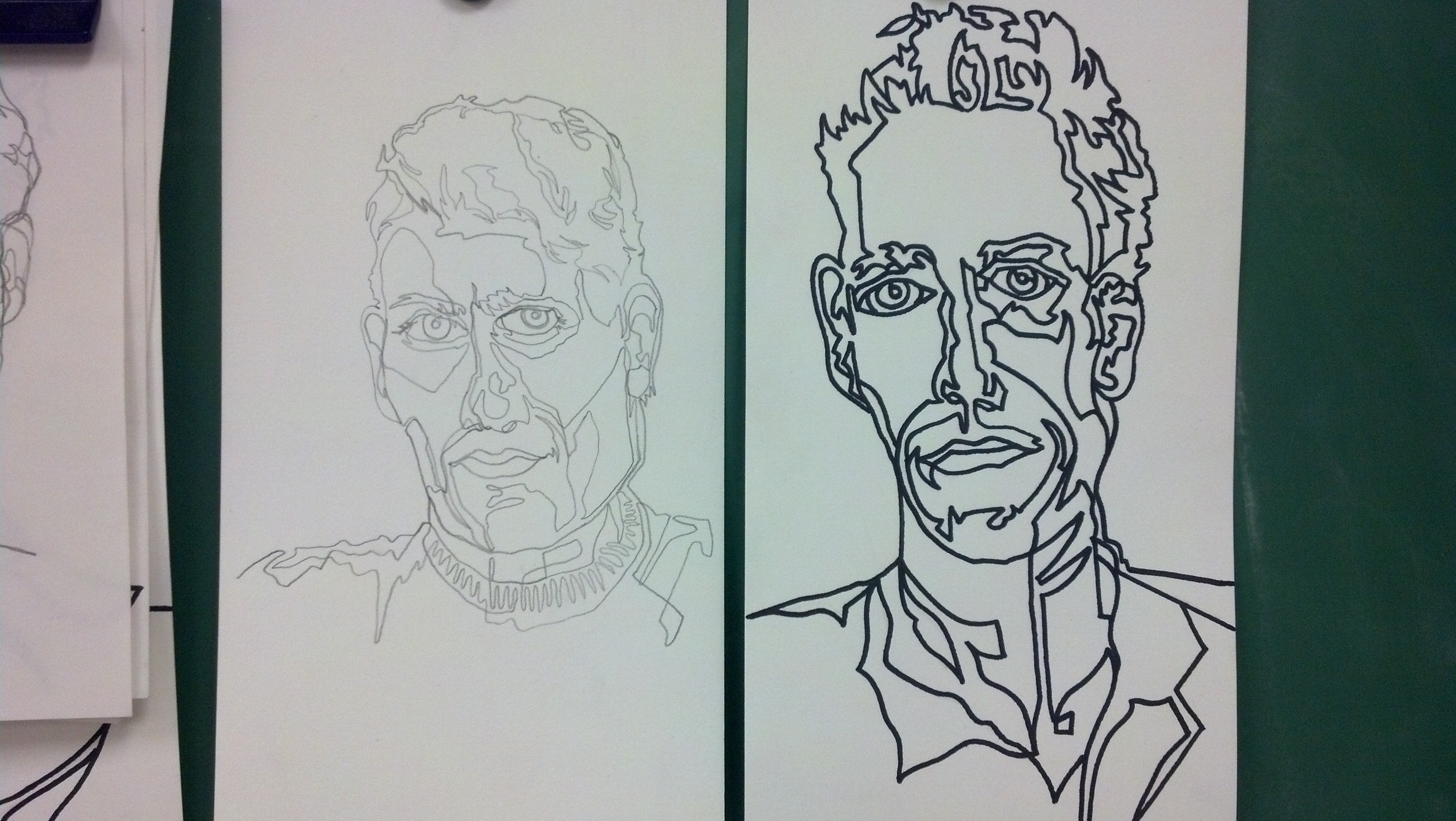 Continuous Contour Line Drawing : Continuous line contour drawing day to in the visual