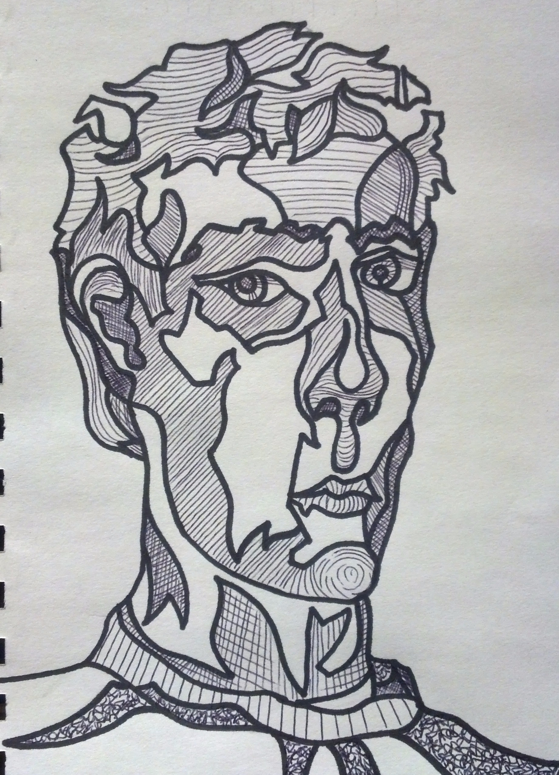 Contour Line Drawing In Art : Continuous line contour drawing u art with korb
