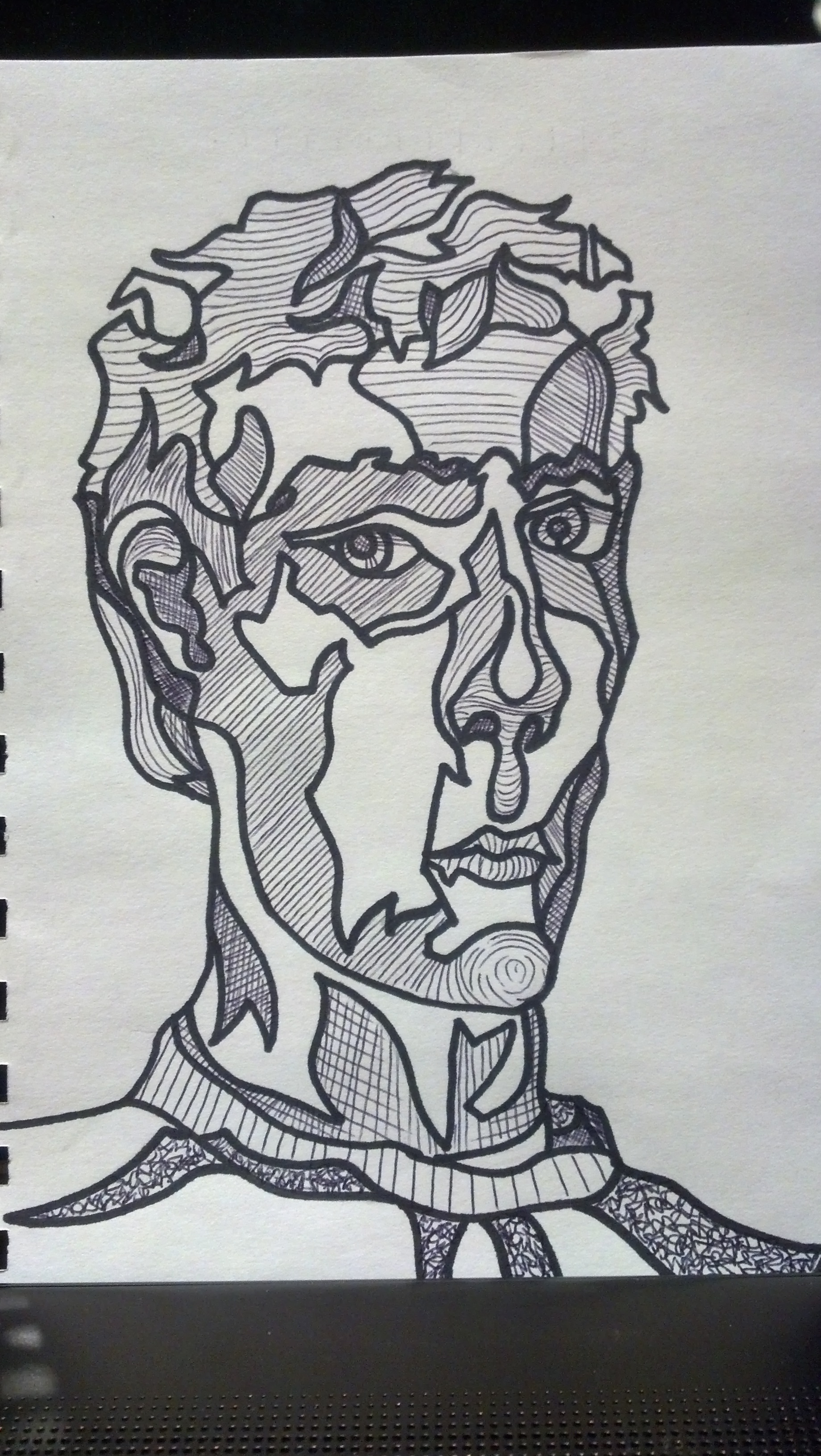 Contour Line Drawing Self Portrait : Day to in the visual arts with frank korb contour