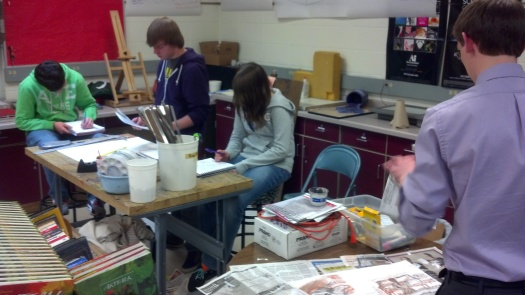 Look at the AP Artists working hard... Good job guys!