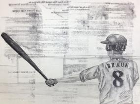 """Braun, Austin Schroeder, pencil and ink, 17.5"""" by 23.25"""", 2013."""