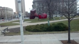 Claes Oldenberg in Cleveland - GREAT IMAGE - GREAT FREE STAMP!