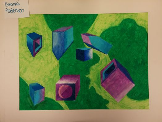 Oil Pastel Drawing - Thanks Breanna!