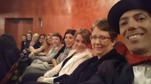 Mr. Korb and the Funkin' Wassels Posse at Whose Line it it Anyway? What does this selfie say about me?