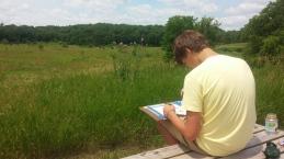 Matt working on a LONG VIEW of Wadewitz.