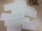 Parent's Day Exit Ticket from classroom - These are GREAT bits of feedback. Thank you parents!