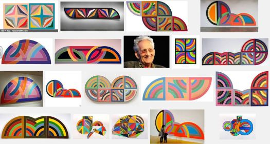 Frank Stella's Paintings - What the COMMON THREAD in the works you see?