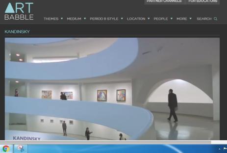 Kandinsky at the Guggenehim.