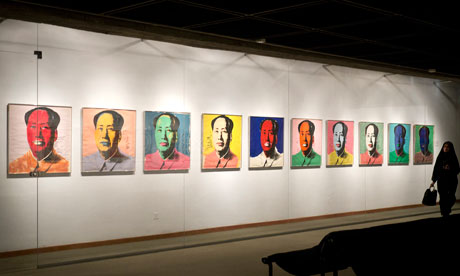 Andy Warhol art at Tehran's Museum of Contemporary Art - Pop Art & Op Art exhibition