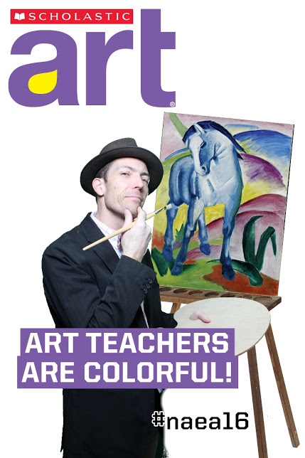 Mr. Korb on the Front cover of Scholastic Art Magazine!