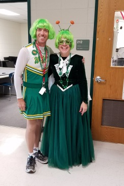 Mr. Korb and Mrs. Smith All Decked out on School Colors Day! Go Wolverines!