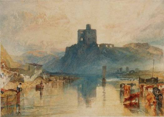 Norham Castle, on the River Tweed circa 1822-3 by Joseph Mallord William Turner 1775-1851