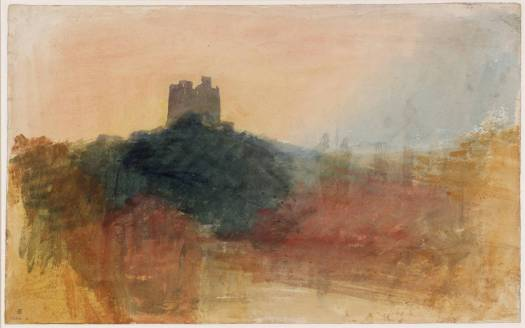 Castle on Hill, Norham by Joseph Mallord William Turner 1775-1851