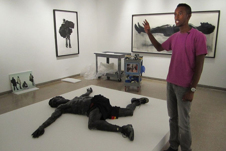 Abdi and his WORKS - What's the Critique? http://www.allartnews.com/wp-content/uploads/2010/08/Work-of-Art-winner-Abdi-Farah-installs-his-Brooklyn-Museum-show.jpg