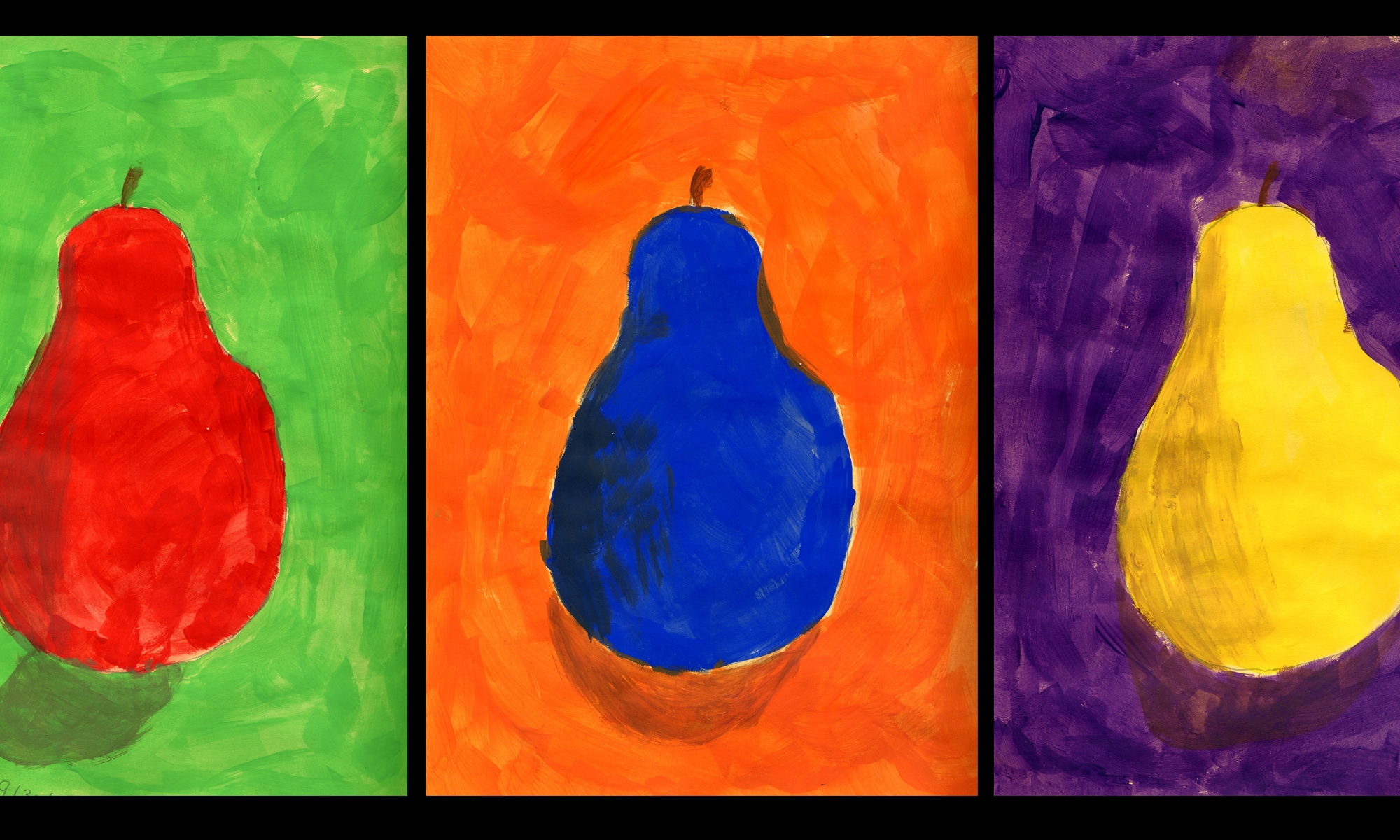 complementary colors art with korb