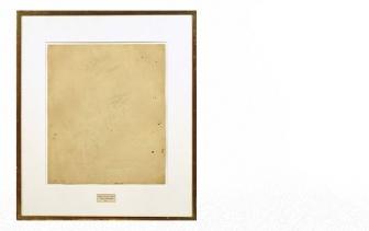 Erased De Kooning by Robert Rauschenberg: http://yewknee.com/_img/blog/blog_eraseddekooning012.jpg