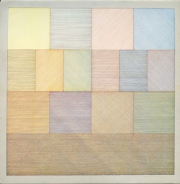 Sol LeWitt Drawing with Line: http://www.gwarlingo.com/wp-content/uploads/2011/10/sol-lewitt-wall-drawing-85.jpg