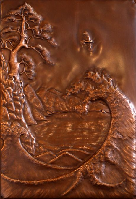 Great details in the copper plate work... how are you doing?  https://s-media-cache-ak0.pinimg.com/736x/ec/8a/84/ec8a84e699814a84e589602b826359b1.jpg