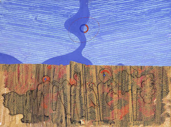 Max Ernst - Collage - Frottage, Grattage, Decalcomania: http://study.com/cimages/multimages/16/max_ernsts_the_wood.jpg