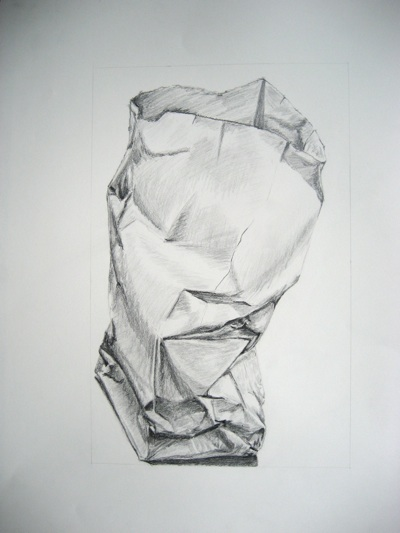 Paper Bag Drawing: http://www.utdallas.edu/~mel024000/pages/2D_Design/PaperBagDrawing/paperbagdraw.jpg