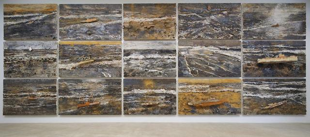 Anselm Kiefet: http://images.hallartfoundation.org/www_hallartfoundation_org/2013_Mass_MoCA_Anselm_Kiefer_Hall_Art_Foundation_052_copy0.jpg