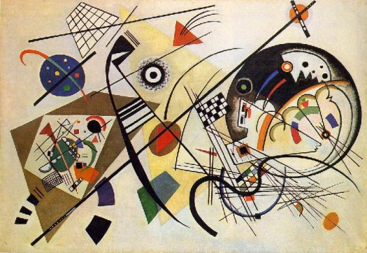 Complex / Symphonic Composition by Wassily Kandinsky: http://www.wassilykandinsky.net/images/works/256.jpg