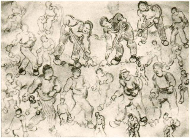 sheet-with-numerous-figure-sketches