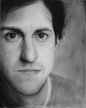 Mike Dretzka - Self-Portrait in Charcoal: http://www.dretzkastudio.com/images/025.jpg