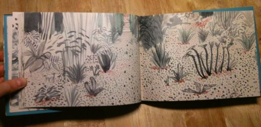 David Hockney's Book Painging: https://s-media-cache-ak0.pinimg.com/originals/36/77/3b/36773bc4e8f3c20e2b57abbb03934fdd.jpg