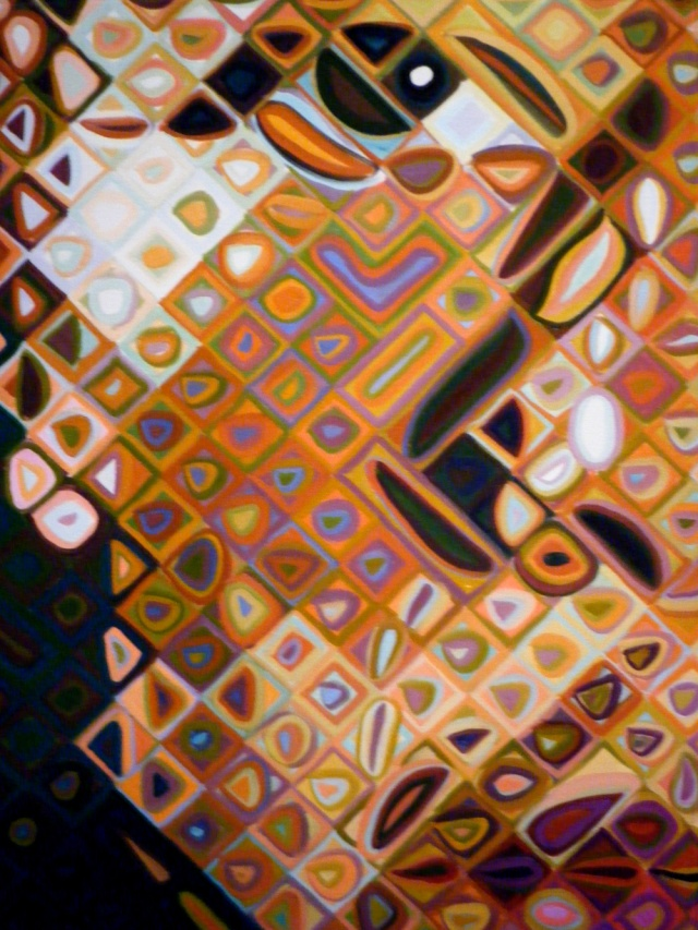 CLOSE UP of Chuck Close Painting: https://giveusart.files.wordpress.com/2011/08/chuck-close_3.jpg