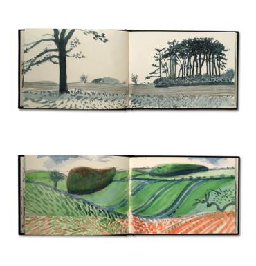 David Hockney - Sketchbook Drawings: https://kelise72.files.wordpress.com/2012/02/david_hockney_yorkshire_sketchbooks.png?w=370&h=385