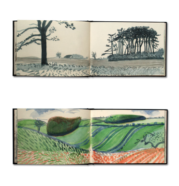 David Hockney - Sketchbook Drawings: https://kelise72.files.wordpress.com/2012/02/david_hockney_yorkshire_sketchbooks.png?w=370&h=385