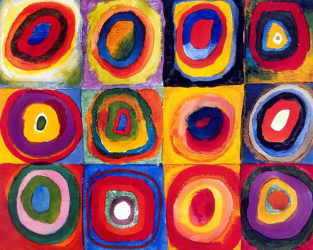 Wassily Kandinsky and Circles: http://www.kimberleyjones.com/wp-content/uploads/2013/03/K3-Wassily-Kandinsky-Concentric-Circles.jpg