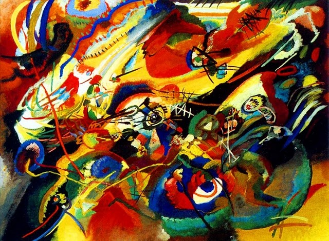 Impression from the mind of Wassily Kandinsky: http://www.invisiblebooks.com/KandinskyComposition%20VIISketch913.jpg