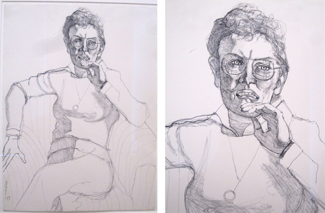 Alice Neel: Drawing - What does YOUR body of work look like? All YOURS? https://methodtwomadness.files.wordpress.com/2015/03/neel-figure-1-comp.jpg