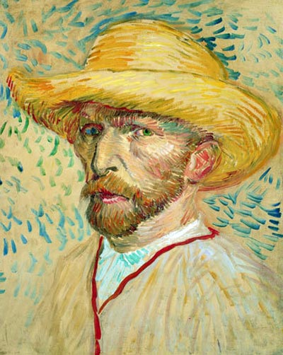 Vincent Van Gogh and his self-portrait: http://www.clevelandseniors.com/images/funny/art-thief/van-gogh-painting.jpg