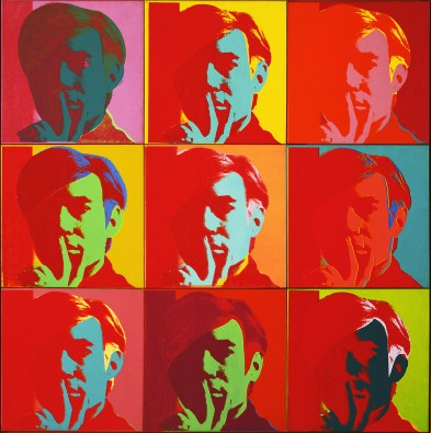 Andy Warhol and Color Schemes: http://www.moma.org/wp/moma_learning/wp-content/uploads/2012/07/Warhol.-Self-Portrait-393x395.jpg