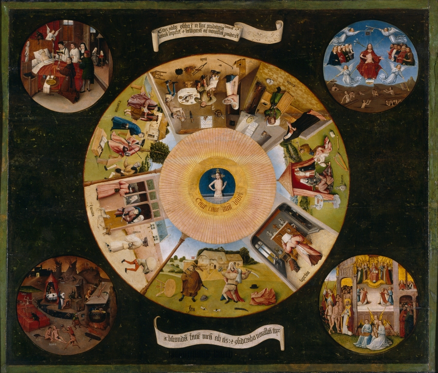 Hieronymous Bosch - the Seven Deadly Sins... What are the Seven Deadly MYTHS about being an Artist? https://upload.wikimedia.org/wikipedia/commons/0/03/Hieronymus_Bosch-_The_Seven_Deadly_Sins_and_the_Four_Last_Things.JPG