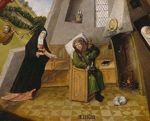 Attribution: By Hieronymus Bosch - →This file has been extracted from another file: Hieronymus Bosch- The Seven Deadly Sins and the Four Last Things.JPG, Public Domain, https://commons.wikimedia.org/w/index.php?curid=5595862