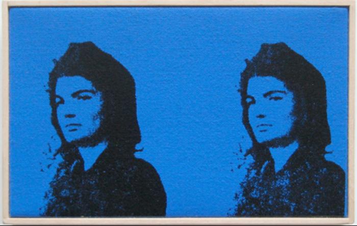 Andy Warhol: Portrait of Jackie Kennedy: https://assets.paddle8.com/510/147/16390/p17lft6sa31rpmdj21fn81lhk17k83-xl.png