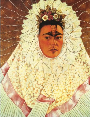 Frida Kahlo Self Portrait 0as a Tehuana: https://uploads7.wikiart.org/images/magdalena-carmen-frieda-kahlo-y-calder%C3%B3n-de-rivera/self-portrait-as-a-tehuana-1943.jpg