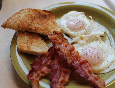 Marty's Breakfast Today! https://korbartwuhs.files.wordpress.com/2017/06/03b6f-bacon-and-eggs_img_0822.jpg