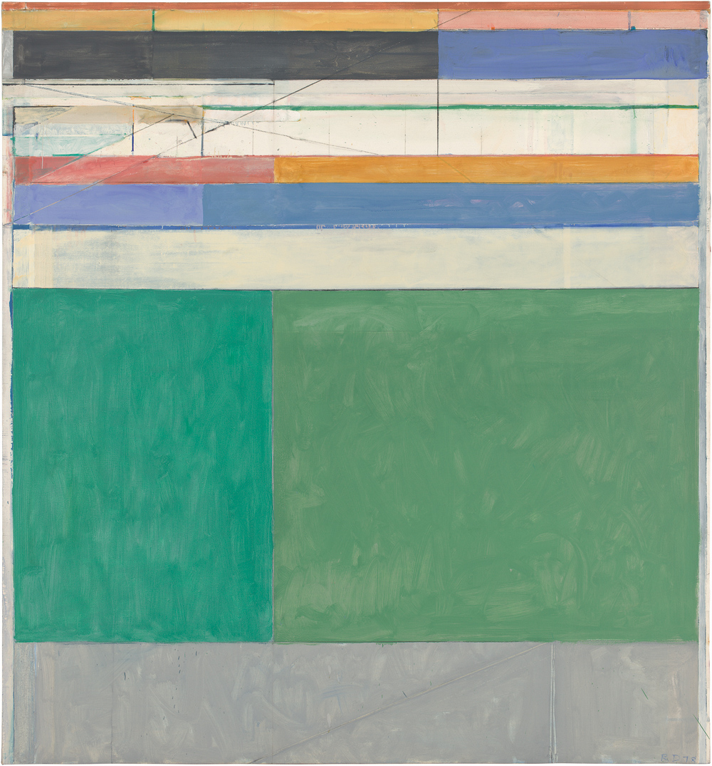 Richard Diebenkorn, Ocean Park Series: http://www.ocma.net/sites/default/files//Diebenkorn_Ocean%20Park%20105_3.jpg