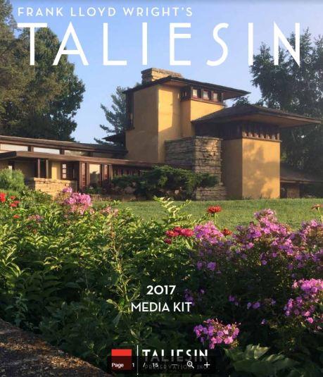 Taliesin Media Kit - Frank Lloyd Wright 2017 Taliesin Preservation Inc.