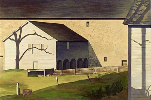 Charles Sheeler - Shaker Barn: https://redtreetimes.files.wordpress.com/2013/01/charles-sheeler-shaker-barn.jpg