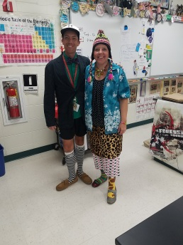 Mr. Korb and Ms. Smith - MisMatch Day - WUHS 2017