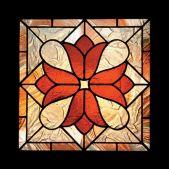 Symmetrical Design in Stained Glass: https://i.pinimg.com/736x/65/17/a2/6517a2b1ce6be004623ea35e2d14cc07.jpg