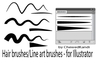 Types of Line in Illustrator: https://img00.deviantart.net/a30c/i/2009/187/9/3/hair_line_art_brushes_for_ai_by_chewedkandi.jpg