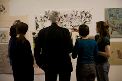 student-and-tutor-critiquing-work-at-a-drawing-year-forum_0