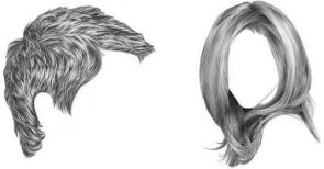 Hair: http://rapidfireart.com/wp-content/uploads/2015/06/how-to-draw-realistic-hair-featured-RFA-comp-534x280.jpg